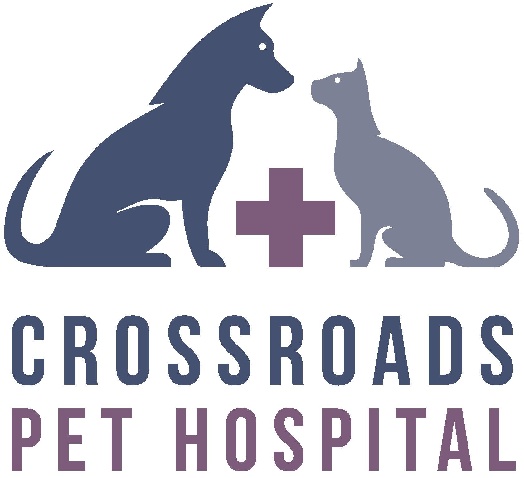crossroads-pet-hospital-carrollton-tx-logo-2tone